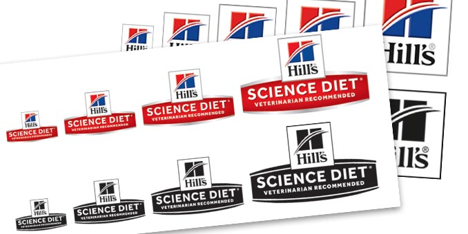Logos for Hill's Science Diet and other products.