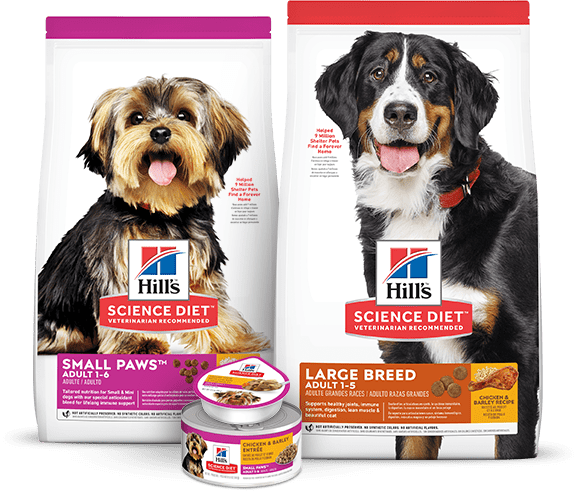 SMALL BREED & LARGE BREED DOG FOODS