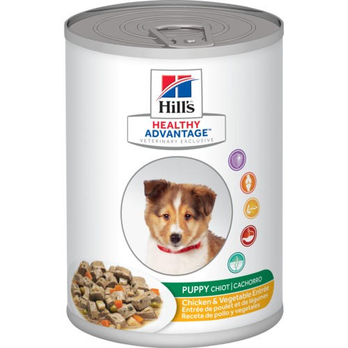 Ideal Balance Dog Food >> Hill's® Healthy Advantage™ Puppy Chicken & Vegetables ...