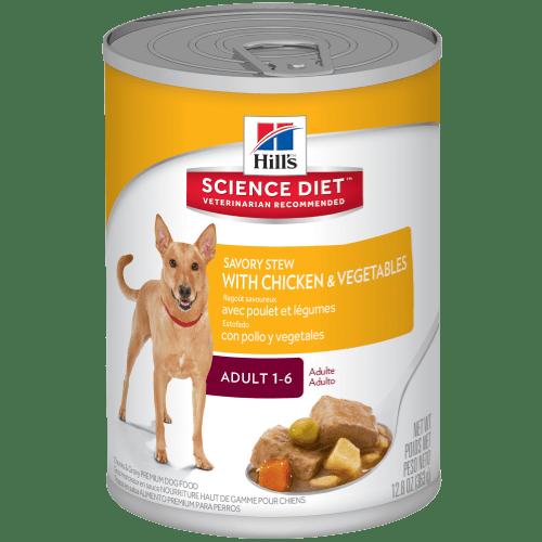 Hills Science Diet Adult Savory Stew With Chicken Vegetables