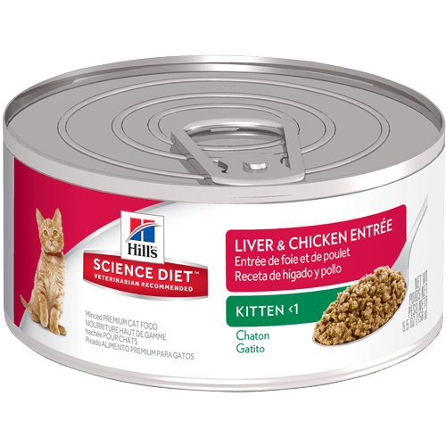 Hills Science Diet Kitten Liver Chicken Entrée Canned