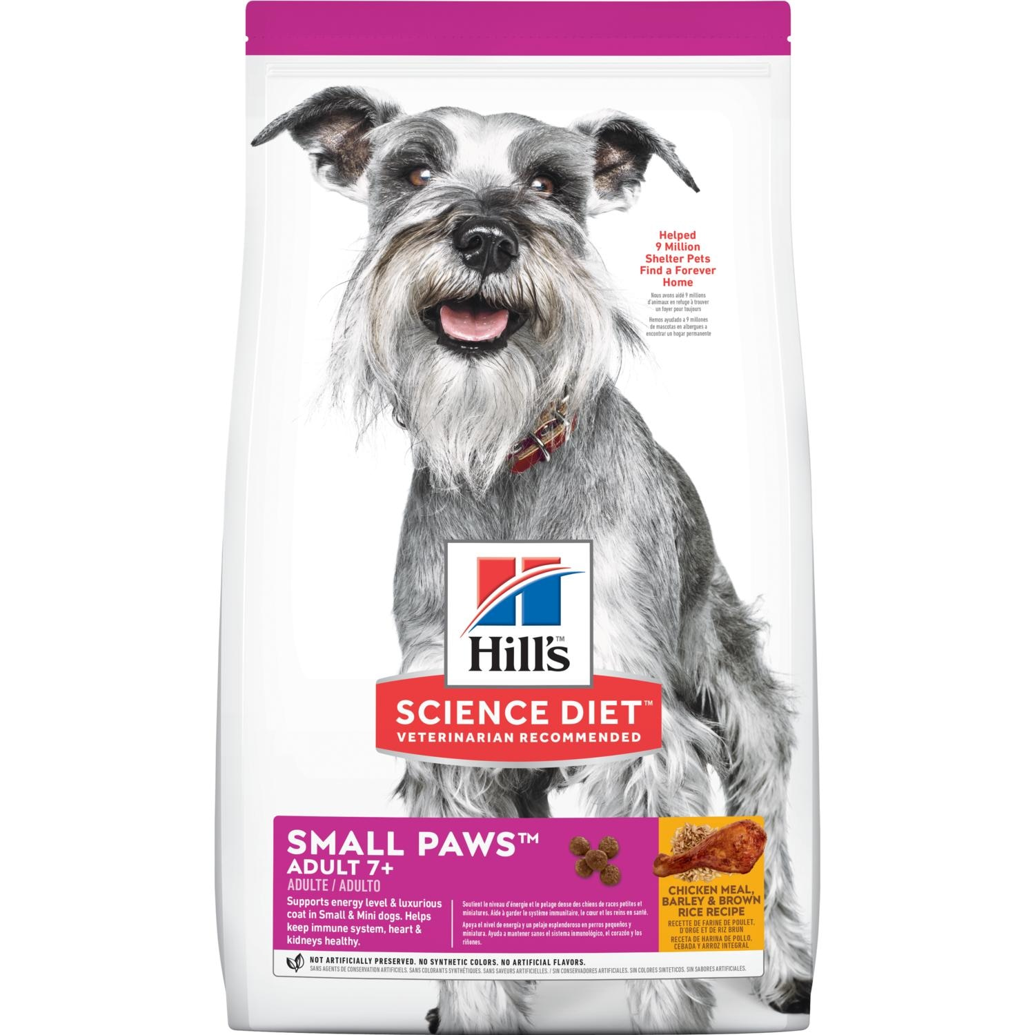 Hill S Science Diet Adult 7 Small Paws Chicken Meal Barley Brown Rice Recipe Dog Food